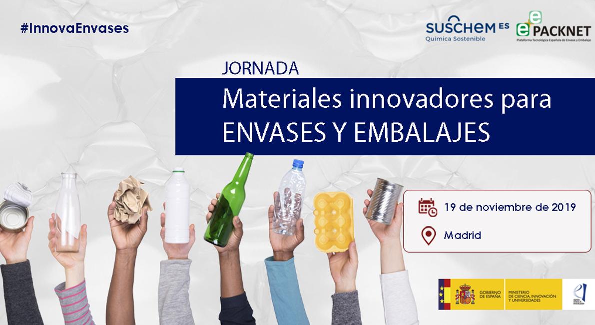 Jornada sobre materiales innovadores para envases y embalajes