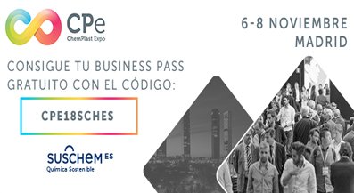 SusChem-España participará como strategic supporting partner en ChemPlastExpo 2018