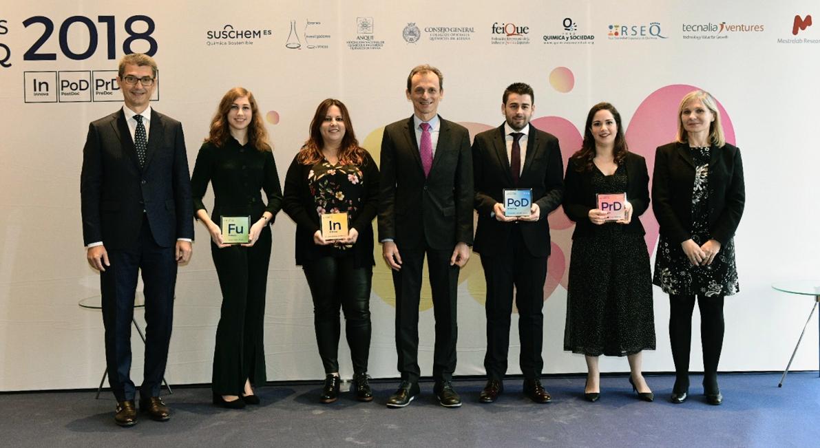 El ministro Pedro Duque entrega los X Premios SusChem-Jóvenes Investigadores Químicos para promocionar el talento de las futuras promesas de la Química