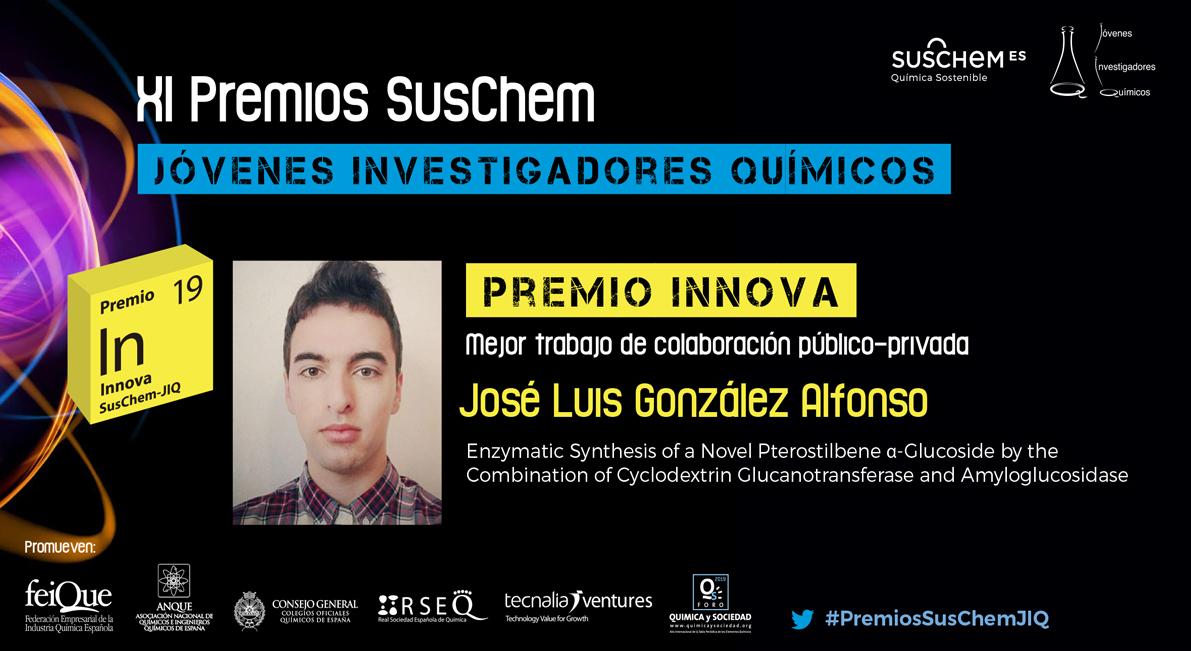 Conoce  a José Luis González. Premio SusChem-JIQ, categoría Innova 2019
