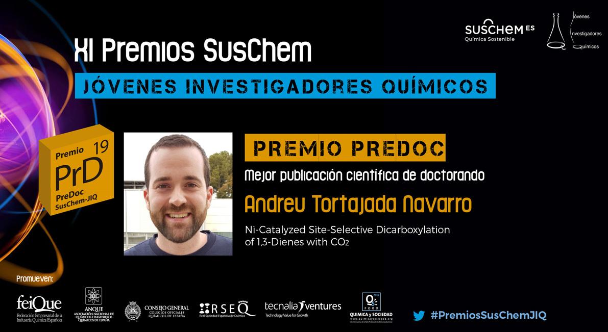 Conoce a Andreu Tortajada. Premio SusChem-JIQ, categoría Predoc 2019