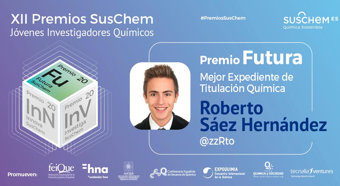 Conoce a Roberto Sáez, Premio SusChem Futura 2020