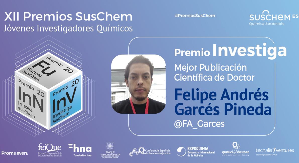 Conoce a Felipe Andrés Garcés, Premio SusChem Investiga 2020