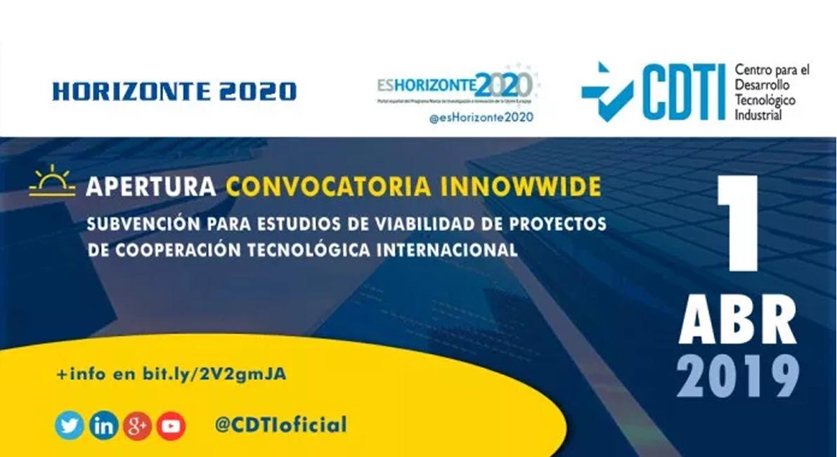 HORIZONTE 2020   El 1 de abril se abrirá la convocatoria de la iniciativa #INNOWWIDE