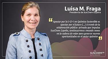 Luisa María Fraga, nueva Presidenta de SusChem-España