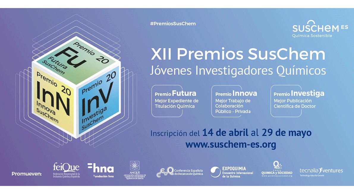 SusChem-España convoca la XII Edición de sus Premios para reconocer el trabajo de los jóvenes investigadores químicos