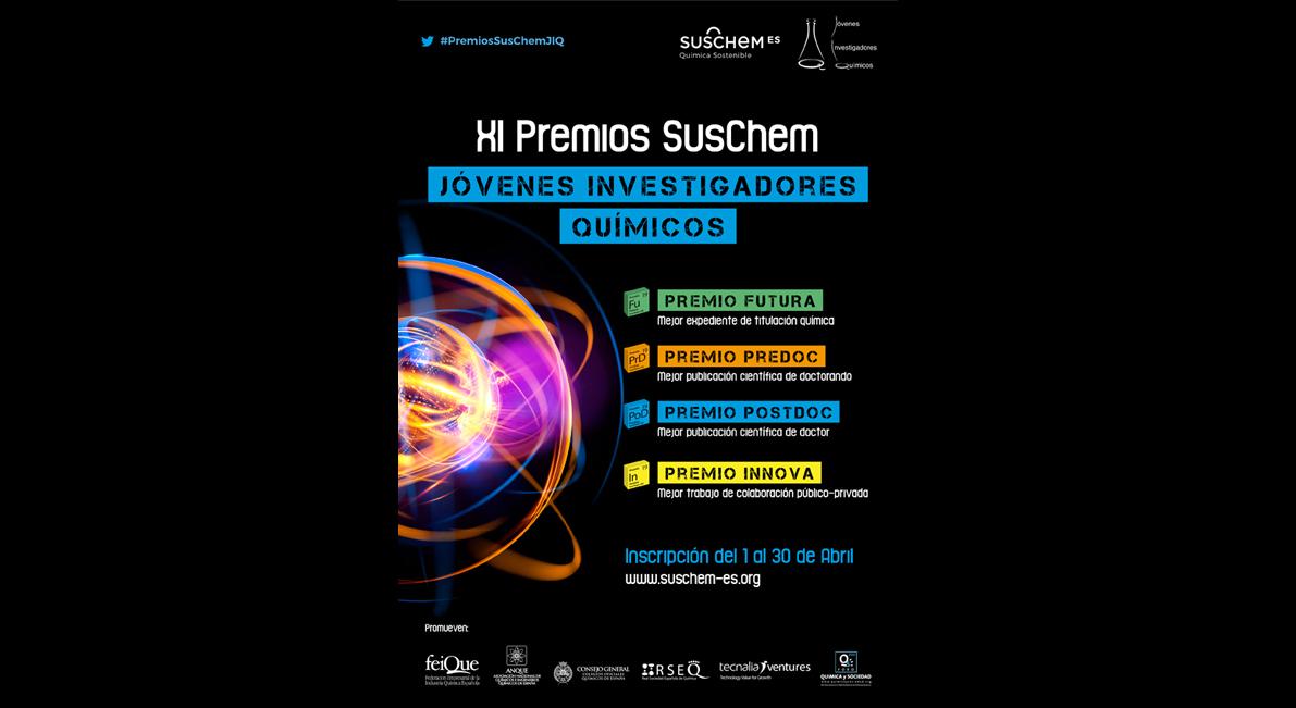 SusChem-España convoca la XI Edición de sus Premios Jóvenes Investigadores Químicos