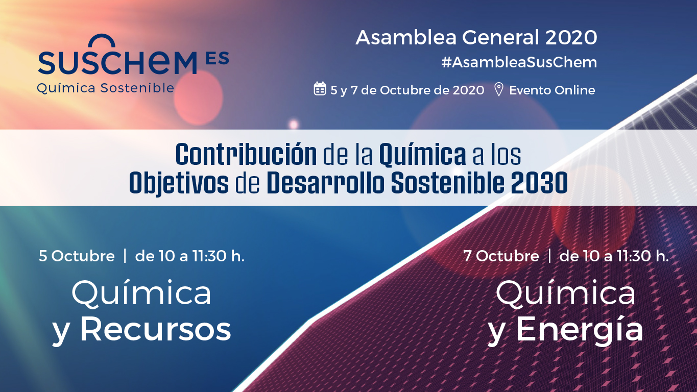 Contribución de la química a los Objetivos de Desarrollo Sostenible, eje de la Asamblea SusChem 2020