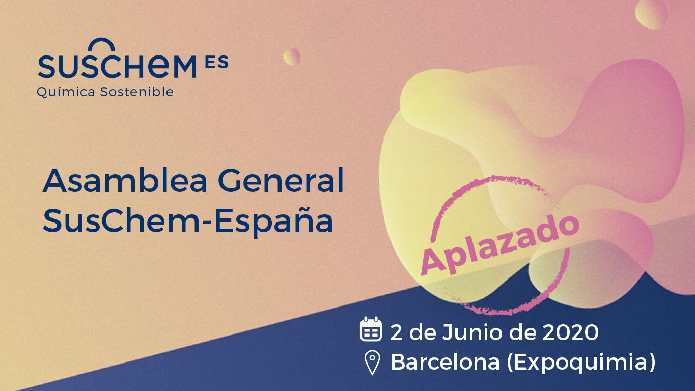 SusChem-España aplaza la celebración de su Asamblea Anual