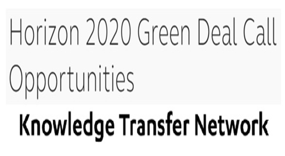 Horizon 2020 Green Deal Call Opportunities