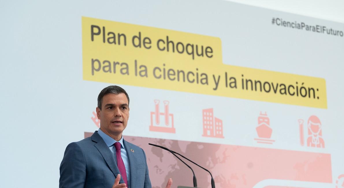 Sánchez presenta el Plan de choque por la Ciencia y la Innovación que compromete 1.056 millones de euros de inversión directa