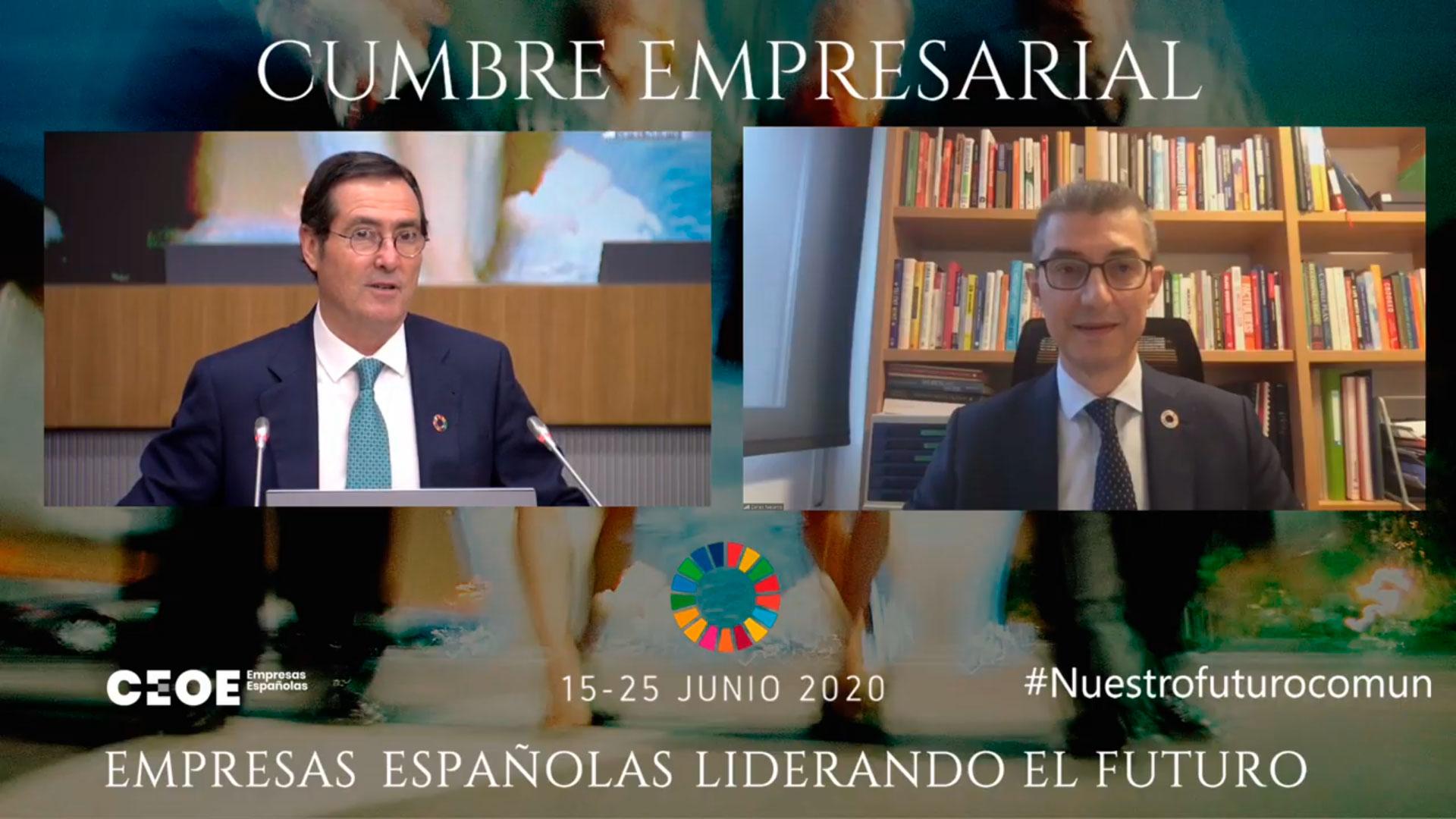 El presidente de Feique destaca a la industria química como sector clave para la recuperación económica de España en la Cumbre Empresarial de CEOE