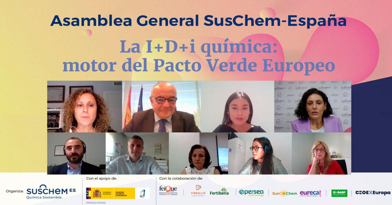 La I+D+i química reclama su lugar como motor para conseguir los objetivos del Pacto Verde Europeo durante la Asamblea SusChem 2021