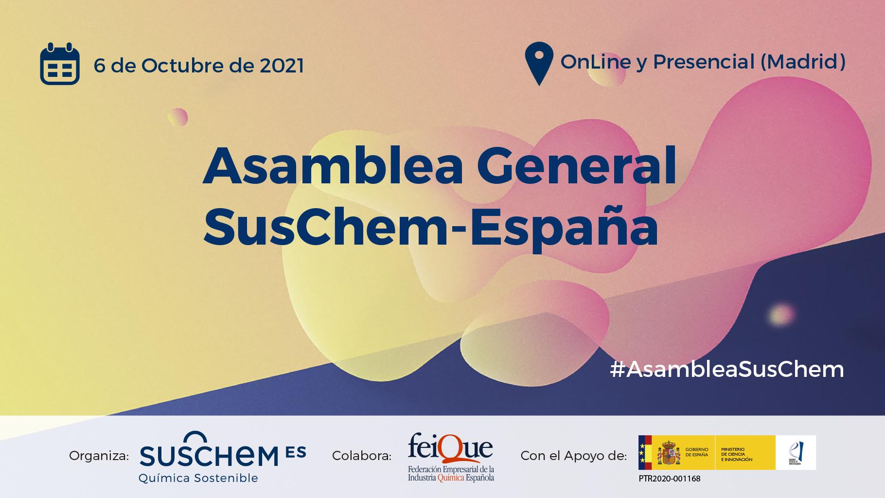 Save the Date: Asamblea General SusChem-España 2021