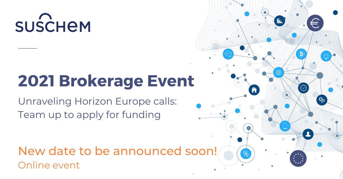 SusChem Brokerage Event postponed