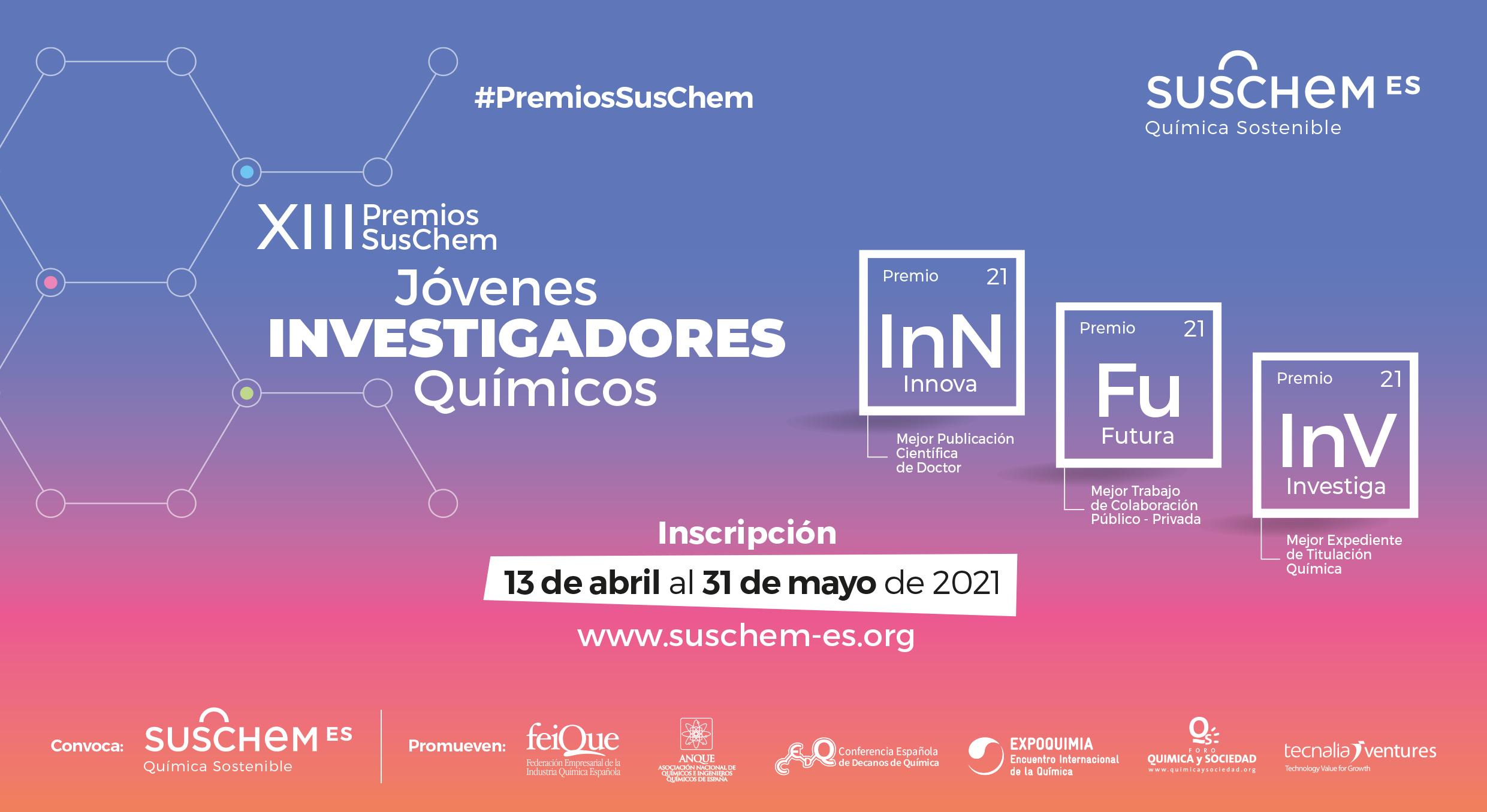 SusChem volverá a convocar sus Premios SusChem a Jóvenes Investigadores Químicos en abril